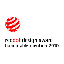 "Red dot ""honourable mention"" 2010"