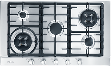 KM 2054 - Gas hob with 2 dual wok burners for extremely versatile cooking convenience.--NO_COLOR