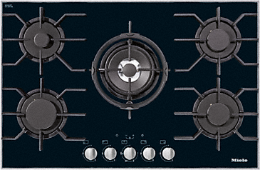 KM 3034-1 - Gas hob with electronic functions for maximum safety and user convenience.--NO_COLOR