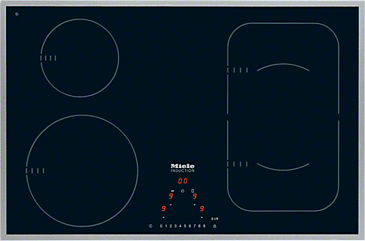 KM 6347 - Induction hob with onset controls with PowerFlex cooking zone for maximum versatility and performance.--NO_COLOR
