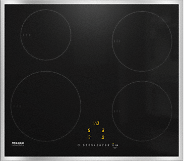 KM 7201 FR - Induction hob with onset controls with 4 round cooking zones at an attractive entry-level price--NO_COLOR