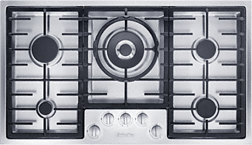 KM 2357-1 - Gas hob with electronic functions for maximum safety and user convenience.--Stainless steel