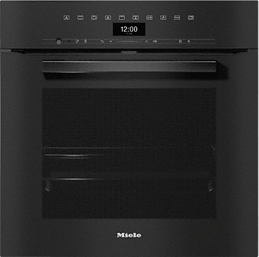 H 7464 BP - Oven seamless design with food probe and LED lighting.--Obsidian black