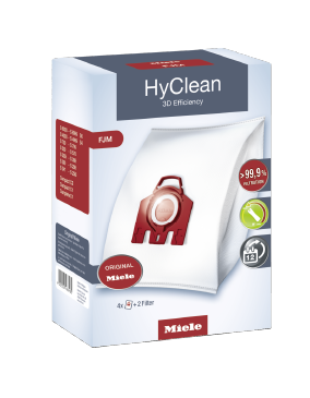 FJM HyClean 3D - HyClean 3D Efficiency FJM dustbags ensure that dust picked up stays inside the vacuum cleaner.--NO_COLOR